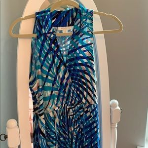 Motherhood Maternity Dresses - Motherhood Maternity blue maxi dress